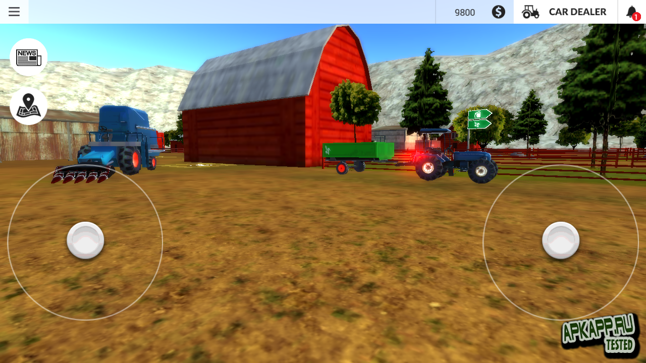 Farming simulator 2015 on android(galaxy s5) youtube.